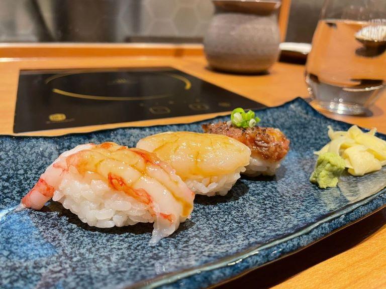 水炊軒前菜壽司三貫